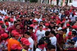 Jalan Sehat Bersama Presiden Jokowi