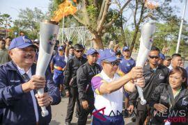 Kirab obor Asian Games dilanjutkan keliling Sumsel