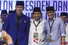 AHY dampingi Prabowo-Sandiaga ke KPU