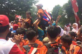 Kirab di Jaksel, ratusan anak sekolah ikut pawai di jalan