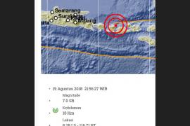Getaran Gempa 7,0 SR di Lombok Terasa Hingga Jember