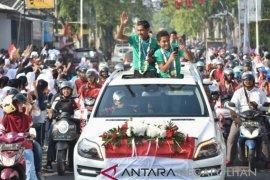 Warga Purwakarta sambut lima pemain Timnas U-16