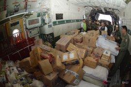 Pesawat Hercules kirim bantuan korban gempa Lombok