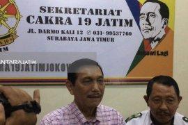 Luhut Hadiri  Deklarasi Dukungan Cakra 19 Jatim Untuk Jokowi-Ma'ruf