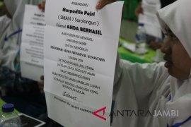 BUMN Hadir - Direksi PTPN6 berikan motivasi peserta SMN Jambi