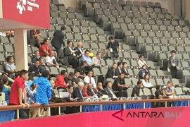 President visits taekwondo match arena