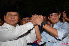 Prabowo-Sandiaga akan ambil nomor pasangan calon di KPU