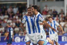 Akhiri laga dengan sembilan pemain, Sociedad mampu tundukkan Huesca