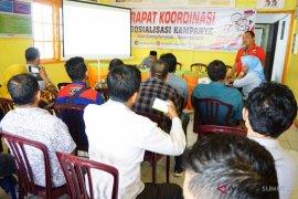 KPU rakor sosialisasi kampanye bersama media massa