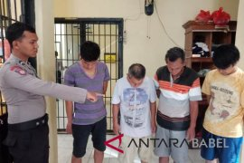 Polisi Bangka Barat tangkap empat pejudi