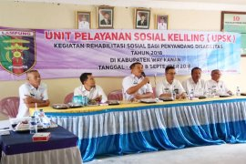 Kegiatan Tim Unit Pelayanan Sosial Keliling Lampung Di Waykanan