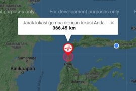 Satu meninggal, 10 luka akibat gempa di Donggala