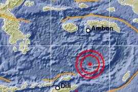 Gempa magnitudo 7,7 akibat aktivitas subduksi di Laut Banda