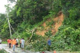 BPBD: Longsor akibatkan empat tiang PLN tumbang