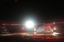 Atlet Indonesia disambut meriah di pembukaan Asian Para Games