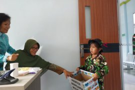 Pelajar TK Perbatasan Galang Donasi Palu