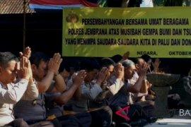 Polres Jembrana doa bersama untuk korban gempa