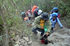 Jalur pendakian gunung Guntur kembali dibuka