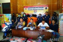 Polres Bangka Selatan tangkap delapan pengedar narkoba