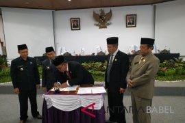 DPRD sahkan RPJMD-RAPBD Bangka 2019