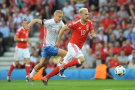 Denmark pastikan promosi setelah kalahkan Wales