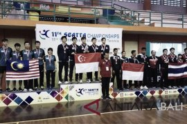 "Singapura raih juara umum ""Seatta Table Tennis Championship"""