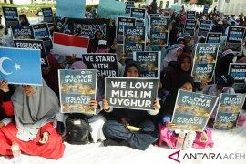 Aksi solidaritas untuk muslim Uyghur