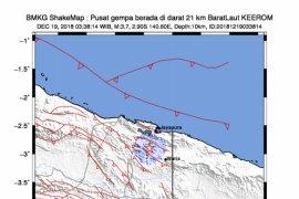 Gempa bumi magnitudo 5,2 guncang Keerom Papua