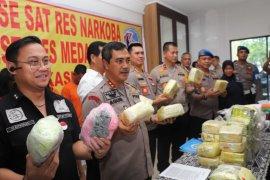 Polrestabes Medan gagalkan peredaran 48,5 kg sabu