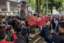 Aksi warga Cianjur