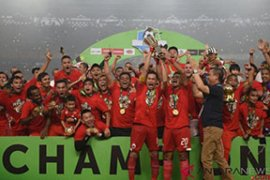 Klub sepak bola Persija merayakan gelar juara Liga I