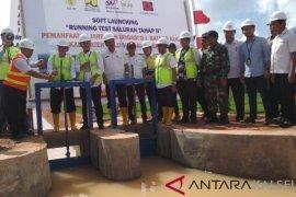 Lauching saluran irigasi Batang Alai menjadi kado HUT HST ke-59