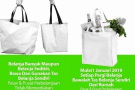 Minimarket Bekasi belum terapkan imbauan kantong kemasan