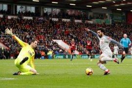 Liverpool cukur Bournemouth 4-0, Salah cetak trigol