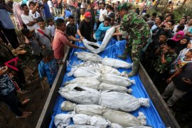 Kerangka korban tsunami Aceh
