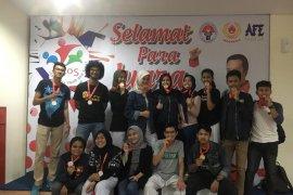 Mahasiswa Universitas Pancasila raih 15 medali kejuaran karate