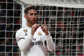 Ramos cetak gol ke-100, Madrid bekap Leganes 3-0