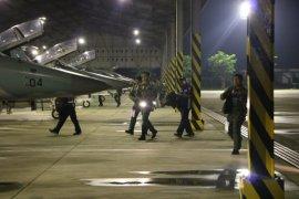 Penerbang Tempur Lanud Iswahjudi Latihan Terbang Malam