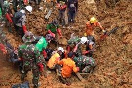 Sudah enam jenazah korban longsor ditemukan