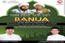 Banua bersholawat hadirkan Habib Syech dan Guru Udin