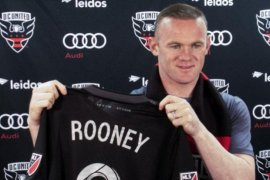 Rooney ditangkap aparat kepolisian Amerika Serikat