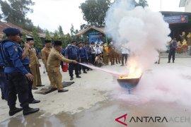 Dinas pemadam bekali pelajar cara penanggulangan kebakaran