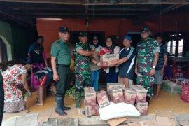 Korem Berikan Bantuan Korban Banjir Boalemo