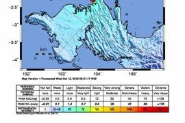 Gempa bumi 4,2 SR  terjadi di Tambrauw