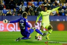 Tanpa Messi-Suarez, Barcelona telan kekalahan 1-2 di markas Levante