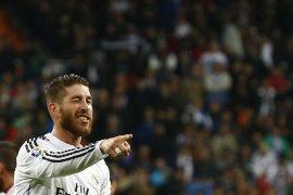 Ramos rayakan gol ke-100 saat Madrid kalahkan Leganes