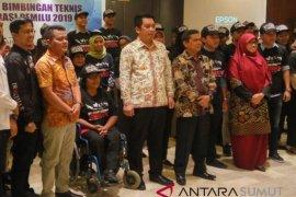 KPU Medan rekrut lima penyandang disabilitas sebagai relawan demokrasi