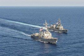 Kapal perang AS kembali lintasi Selat  Taiwan