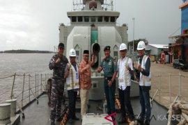 "KRI Fatahillah (361) ""Open Ship"" di Dermaga Trisakti Banjarmasin"