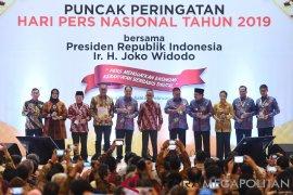 Rini Soemarno terima penghargaan menteri peduli pers